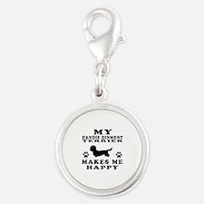 My Dandie Dinmont Terrier makes me happy Silver Ro