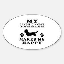 My Dandie Dinmont Terrier makes me happy Decal