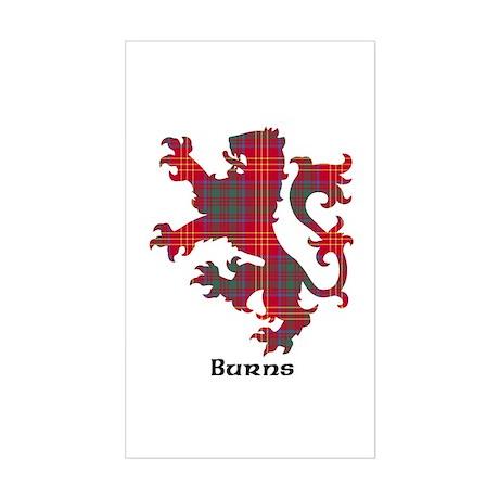 Lion - Burns Sticker (Rectangle)