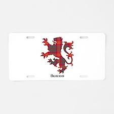 Lion - Burns Aluminum License Plate
