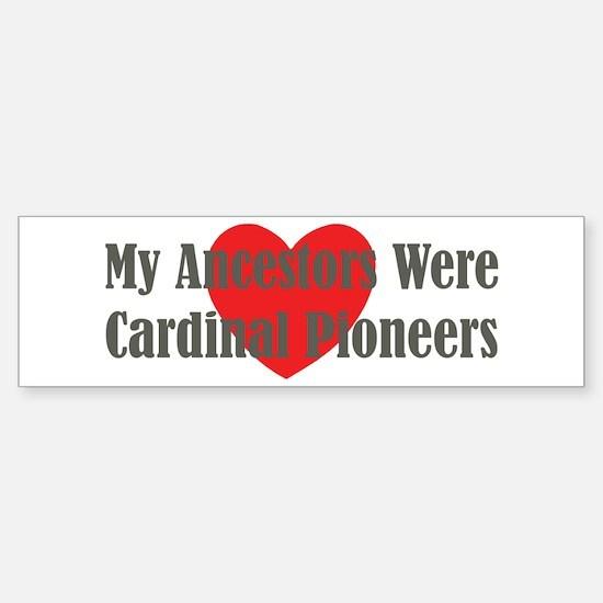 Cardinal Ancestors Sticker (Bumper)