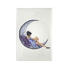 A Fairy Moon Rectangle Magnet