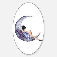 A Fairy Moon Oval Decal