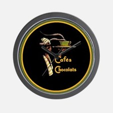 Caf`e Chocolats - Wall Clock