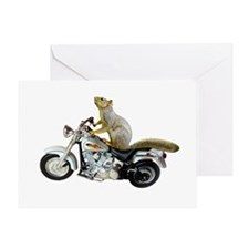 Motorcycle Squirrel Greeting Card