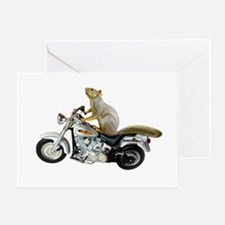 Motorcycle Squirrel Greeting Card