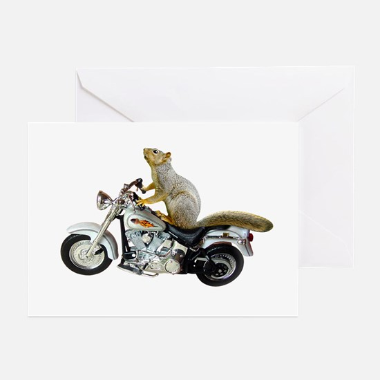 Motorcycle Squirrel Greeting Cards (Pk of 20)