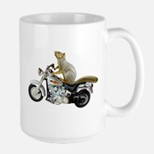 Motorcycle Squirrel Large Mug