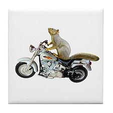 Motorcycle Squirrel Tile Coaster