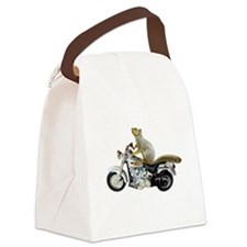 Motorcycle Squirrel Canvas Lunch Bag