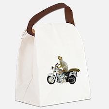 Motorcycle Squirrel Canvas Lunch Bag