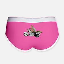 Motorcycle Squirrel Women's Boy Brief