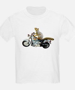 Motorcycle Squirrel T-Shirt