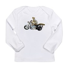 Motorcycle Squirrel Long Sleeve Infant T-Shirt