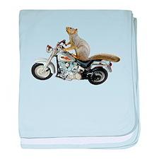 Motorcycle Squirrel baby blanket
