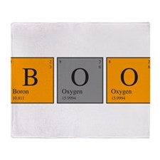 Periodic Boo Throw Blanket