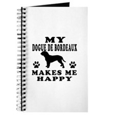My Dogue De Bordeaux makes me happy Journal