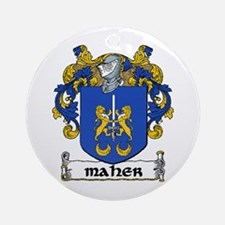 Maher Coat of Arms Ornament (Round)