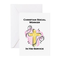 Christian Social Worker Greeting Cards (Package of