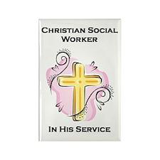 Christian Social Worker Rectangle Magnet