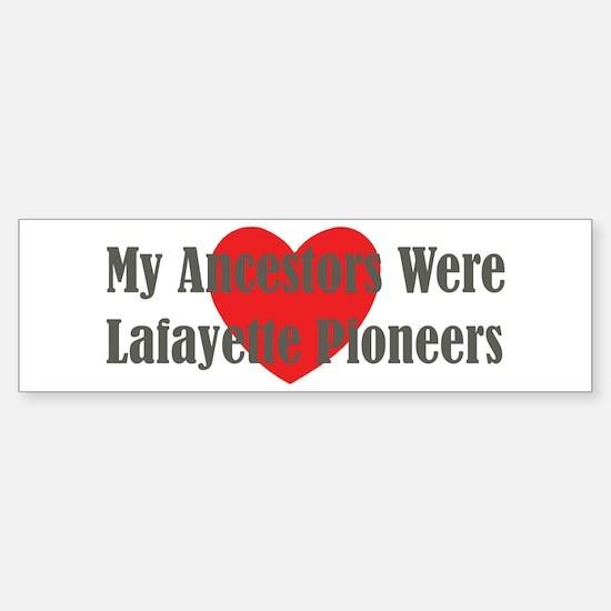 Lafayette Ancestors Sticker (Bumper)