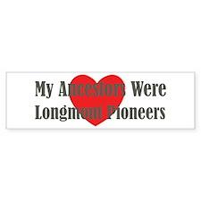Longmont Ancestors Bumper Sticker