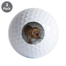Ruby puppy Golf Ball