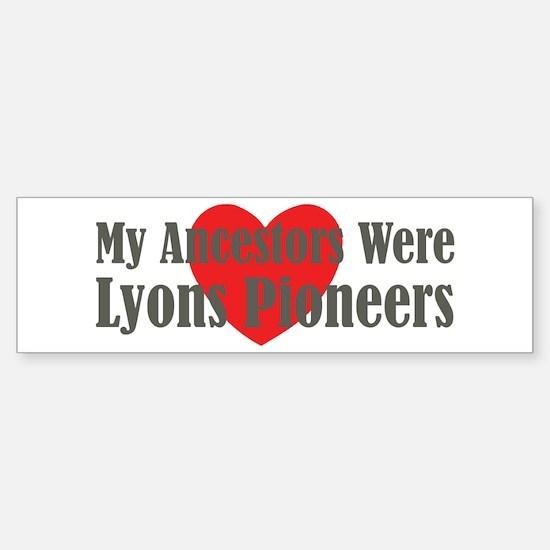 Lyons Ancestors Sticker (Bumper)