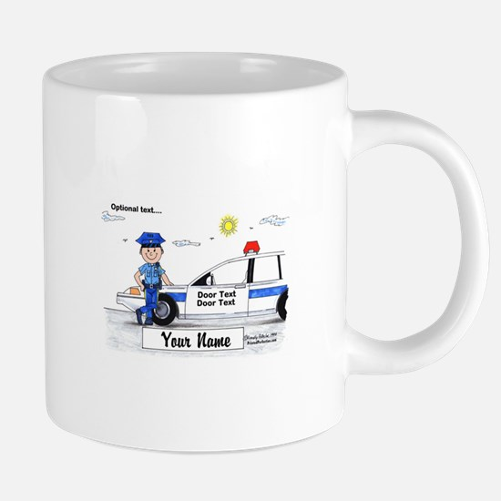 Police Officer - Blue Uniform, Male Mugs