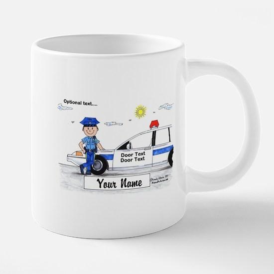 Police Officer - Blue Uniform, Male Mugs