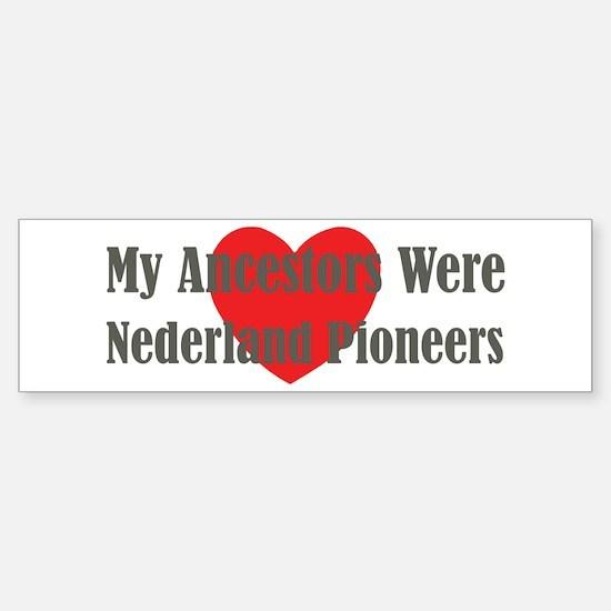 Nederland Ancestors Sticker (Bumper)