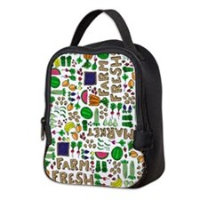 Farmers Market Medley Neoprene Lunch Bag