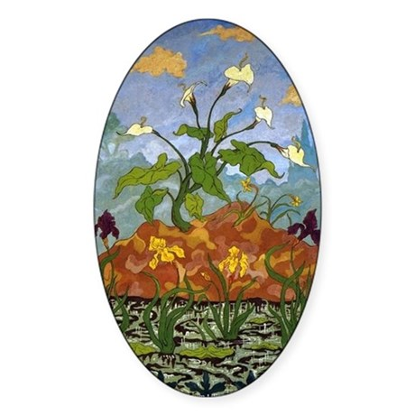 Violet and Yellow... by Paul Ranson Sticker (Oval)