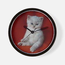 British Shorthair kitten Wall Clock