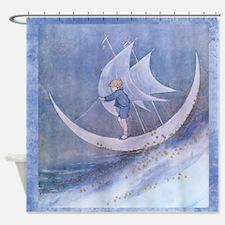 Moon Child on Sea of Stars Shower Curtain