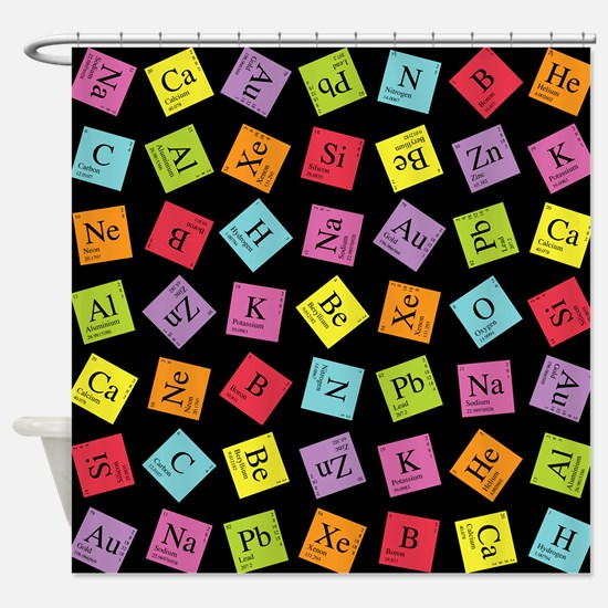 periodic_3.png Shower Curtain