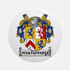 Mahoney Coat of Arms Ornament (Round)