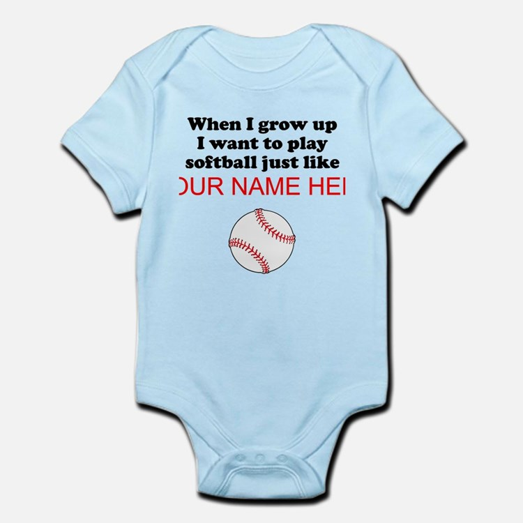 Play Softball Just Like (Custom) Body Suit