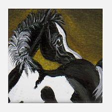 Black & White Pinto Foal Tile Coaster
