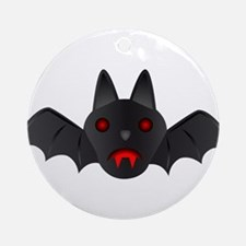 Halloween - Vampire Bat Ornament (Round)