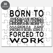 Born To American Kenpo Martial Art Puzzle