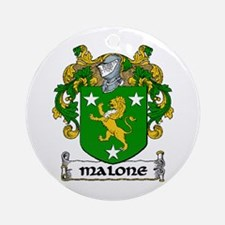 Malone Coat of Arms Ornament (Round)
