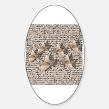Funny Paper crane Sticker (Oval)