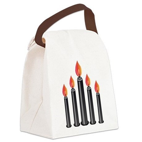 Halloween - Candles Canvas Lunch Bag