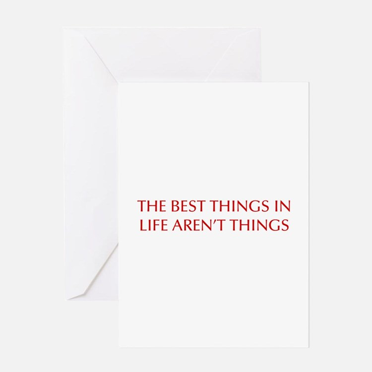 best-things-in-life-OPT-RED Greeting Cards