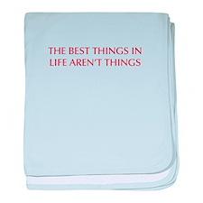 best-things-in-life-OPT-RED baby blanket