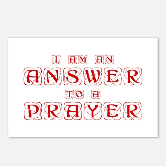 answer-to-prayer-kon-red Postcards (Package of 8)