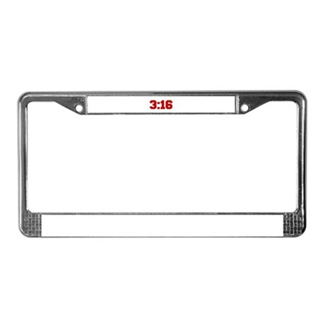 3-16-fresh-red License Plate Frame