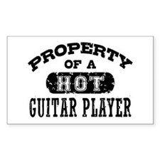 Property of a Hot Guitar Player Decal