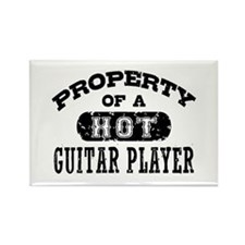 Property of a Hot Guitar Player Rectangle Magnet